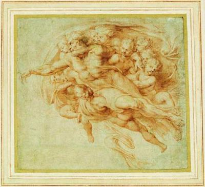 (Credit: Peter Paul Rubens) God creating Adam, after Michelangelo
