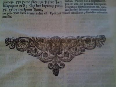 Photo Credit: Benjamin Saltzman of Lambarde's ???????????, a 1668 edition of the Anglo-Saxon laws