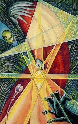 "Thoth Tarot Deck by Aleister Crowley ""The Hermit"""
